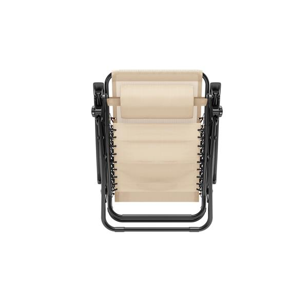 CorLiving Textured Zero Gravity Cream Patio Lounger