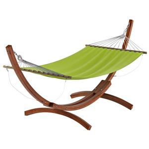 CorLiving Free-Standing Patio Hammock in Lime Green Canvas