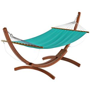 CorLiving Free-Standing Patio Hammock in Teal Canvas
