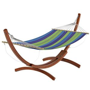 CorLiving Free-Standing Patio Hammock in Striped Canvas