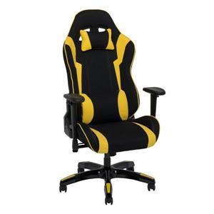 Fauteuil de jeux ergonomique, Noir et jaune
