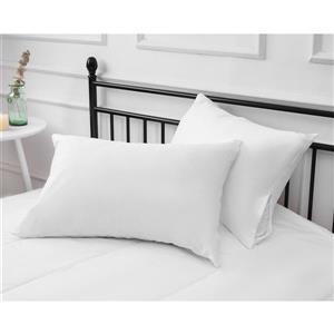 """Protecteur d'oreiller Milano, 30"""", blanc, ens. de 2"""