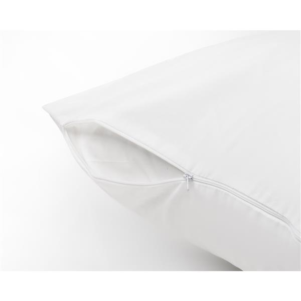Milano Collection 20-In x 27-In White Pillow Protector