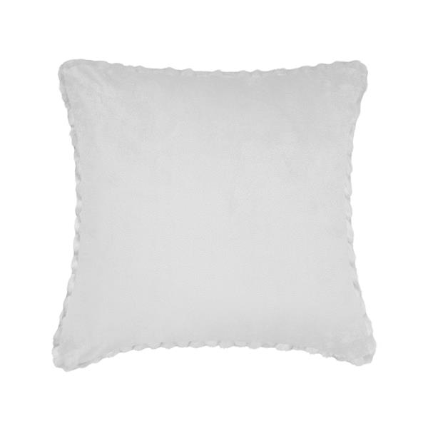 Millano Collection White Leaf Decorative Cushion