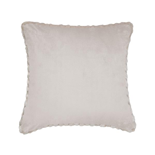 Millano Collection Beige Leaf Decorative Cushion