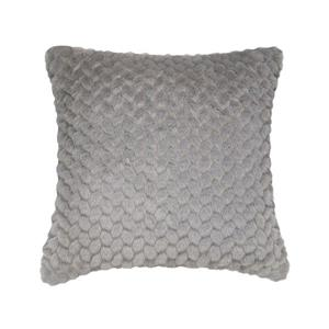 Coussin décoratif Millano, feuille, gris
