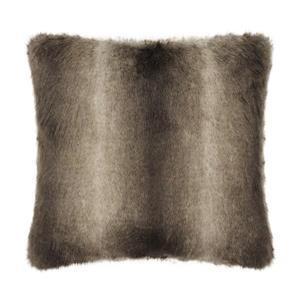 Millano Collection 18-in Beige/Brown Faux Fur Decorative Cushion