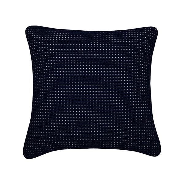 Coussin décoratif Millano, gaufré, bleu