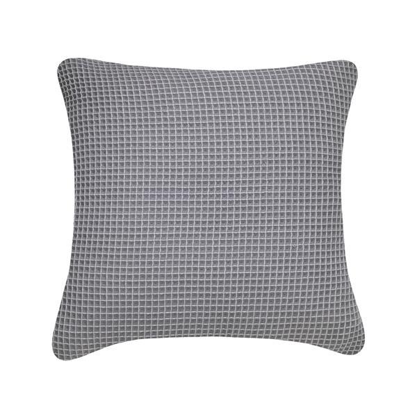 Coussin décoratif Millano, gaufré, gris