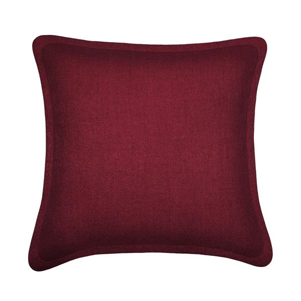 Coussin décoratif Millano, tweed, bourgogne
