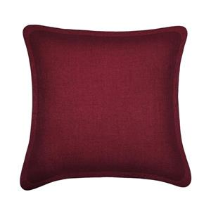 Millano Collection Burgundy Decorative Tweed Cushion