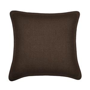 Coussin décoratif Millano, tweed, brun