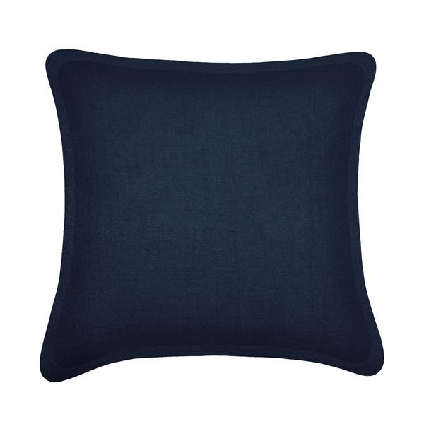 Coussin décoratif Millano, tweed, bleu