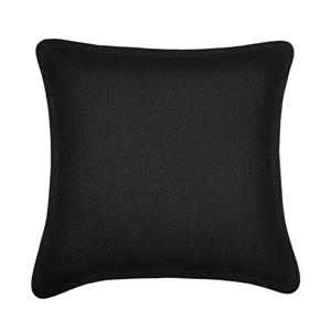 Coussin décoratif Millano, tweed, noir