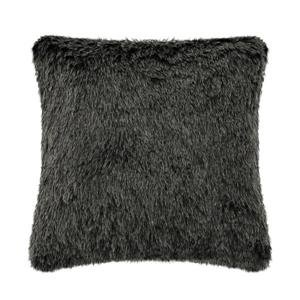 Millano Collection 18-in Black Faux Fur Decorative Cushion