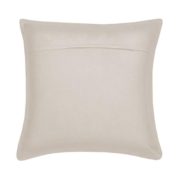 Millano Collection Off-White Decorative Suede Cushion