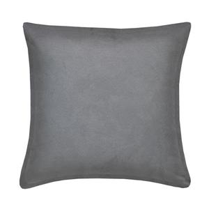 Millano Collection Gray Decorative Suede Cushion