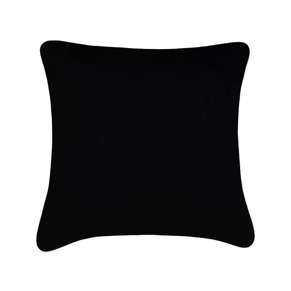 Coussin décoratif Millano, paillettes, noir et or