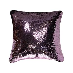 Millano Collection Black/Pink Glitter Faux Fur Decorative Cushion
