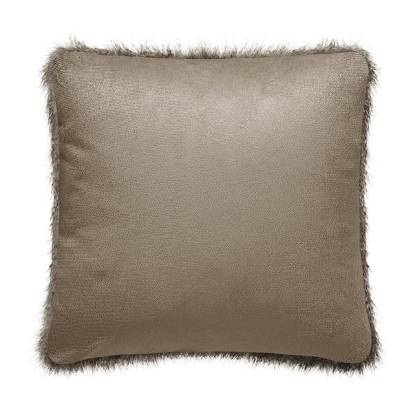 Coussin décoratif, fausse fourrure Millano, gris