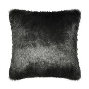 Millano Collection 18-in Dark Gray Faux Fur Decorative Cushion