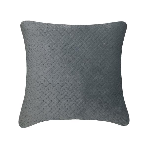 Coussin décoratif Quiltee, gris