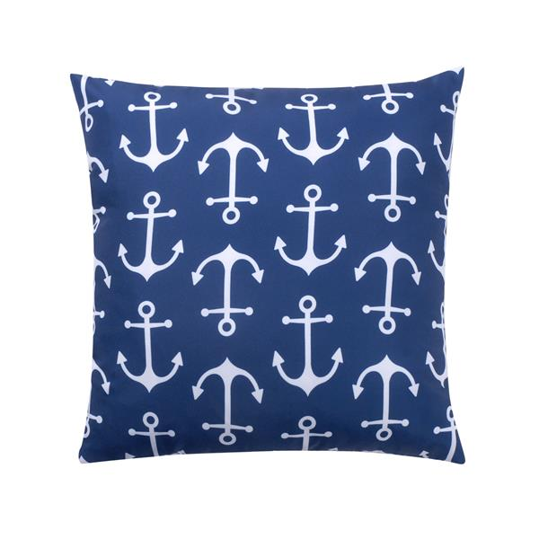 Millano Collection Navy and White Anchor Outdoor Cushion