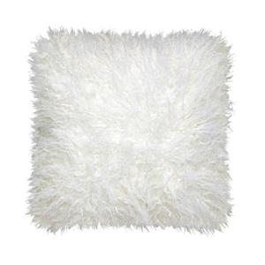 Millano Collection White Faux Fur Decorative Cushion