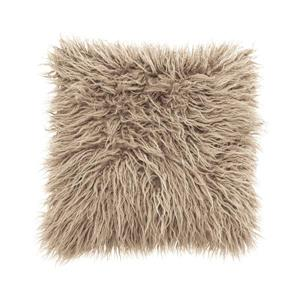 Millano Collection Beige Faux Fur Decorative Cushion
