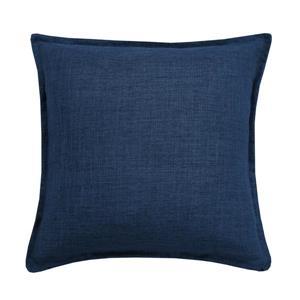 Coussin décoratif Millano, lin, bleu foncé