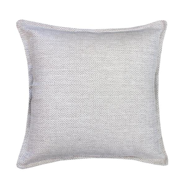 Millano 18-in White Herringbone Decorative Cushion