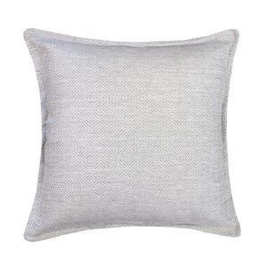 Coussin décoratif Millano à chevrons, blanc