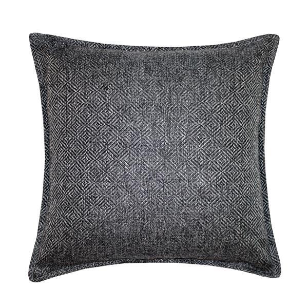 Millano 18-in Dark Gray Herringbone Decorative Cushion
