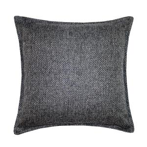 Coussin décoratif Millano, chevrons, gris foncé