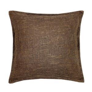 Coussin décoratif Millano, toile de jute, brun