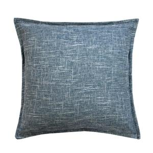 Millano 18-in Blue Burlap Decorative Cushion