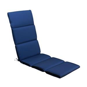 Coussin de chaise longue Millano, polyester, bleu