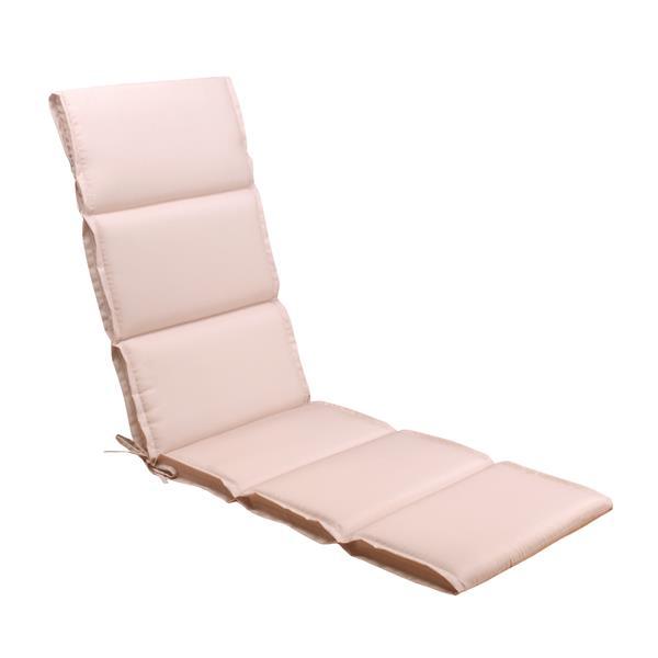 Coussin de chaise longue Millano, beige/rose