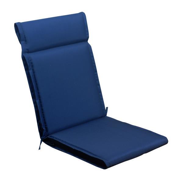Coussin à dossier haut Millano, bleu