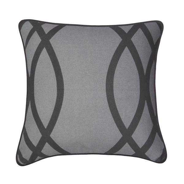 Coussin décoratif Wilcox, gris