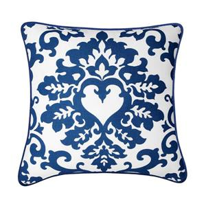 Millano Collection Thatcher Blue and White Decorative Cushion