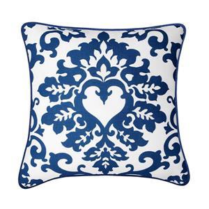 Coussin décoratif Thatcher, bleu et blanc