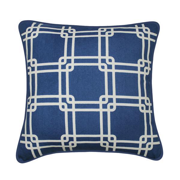 Coussin décoratif Payson, bleu