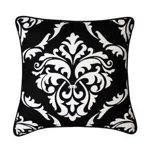 Coussin décoratif Mesa, noir et blanc