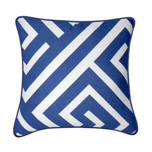 Millano 18-in Blue and White Kearny Decorative Cushion