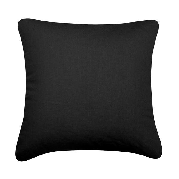 Coussin décoratif Montazona, noir