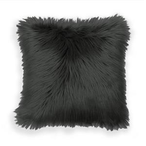 Millano 18-in Gray Faux Fur Decorative Cushion