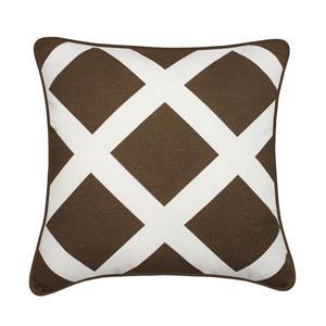 Coussin décoratif Duncan, brun