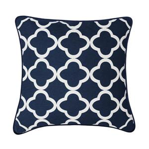 Millano 18-in Blue and White Viva Decorative Cushion