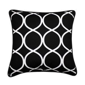 Coussin décoratif Clifton, noir et blanc
